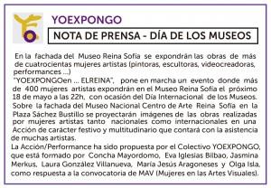 'YO EXPONGO EN EL REINA'