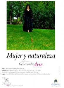 cartel mujer naturaleza